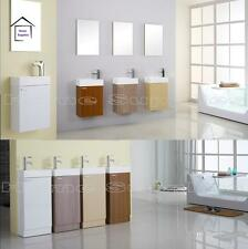 BATHROOM CLOAKROOM VANITY UNIT IN GLOSS WHITE AND OTHER FINISHES