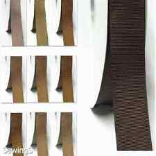 "Grosgrain Ribbon 3/4"" /19mm WhoLesaLe 100 Yards, Discount Ivory to Brown for Bow"