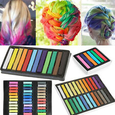 6/12/24/36 Colors Non-toxic Temporary DIY Hair Color Chalk Dye Pastels Salon Kit
