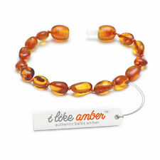 13-19cm Baltic Amber Teething Bracelet Anklet-Child Baby size-Bean Beads CLCH