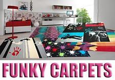 "BEST CARPETS FOR CHILDRENS  ""FUNKY"" 100x170 cm (3'3""x5'6"") 29 MODELS FOR TEEN'S"