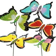 1x Giant Colourful Garden Butterfly on Stick w/ Wings on Springs- 18cm Wing Span