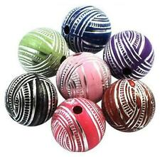 TOP QUALITY ACRYLIC BEADS ANTIQUE SILVER LACED 12mm 20 Per Bag COLOUR CHOICE