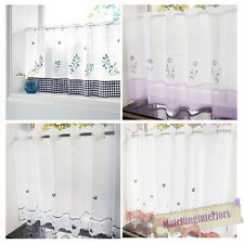 """Decorative One Panel Ready Made Eyelet Top Kitchen Voile Cafe Net Curtain 59""""x24"""