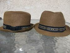 RAMPAGE Mens Women Unisex Straw Fedora Hat Straw Fedora Hat One size fits All