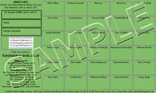 10 Assorted Theme Cricket Fundraising/Scratch Cards