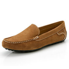Leather Lace Up Casual Loafer fashion slip on mens driving shoes [JG]