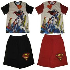 Boys Superman Shortie Cotton Pyjamas Ages 2-7 Years Short Man of Steel Gift