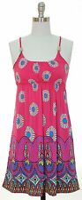 JON & ANNA Beaded Tank Racer Back Dress FUSCHIA Pink SunDress