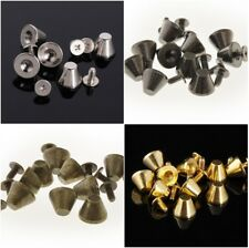 Mushroom Spike Metal Studs Rivet Screw back Spots Cone Punk Leathercraft Diy 11m