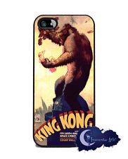King Kong 1933 Movie Poster - Silicone Rubber Case for iPhone 5, Cell Cover