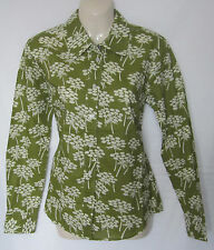 NEW LADIES GREEN FLORAL PRINTED BODEN SHIRT TOP SIZE 8 10 12 14 16 18 BNWOT