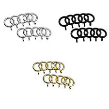 Universal Cafe Curtain Rod Rings, 10 Pack