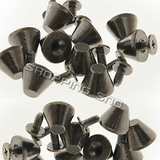Black Mushroom Screw Spike Metalic Studs Rivet Spots Cone Punk Leathercraft Diy