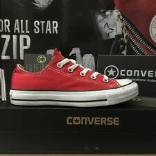 Scarpe Converse All Star basse rosse red m9196 uomo donna ct ox low white chuck