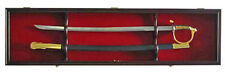 "44"" Long Military Sword Display Case Shadow Box Cabinet, w/LOCK : KCS03-"