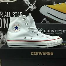 Scarpe Converse All Star 2015 Tela Canvas Bianche White Alte  uomo donna unisex