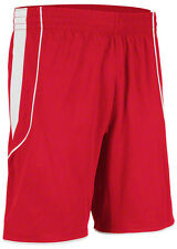Mens adidas red athletic sewn basketball shorts no logos rare blank item