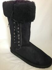 MENS UGG BOOTS BLACK LACE UP  STYLE  WITH WOOL BLEND LINING EVA SOLES