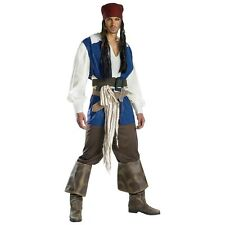 Jack Sparrow Costume Adult Pirates of the Caribbean Halloween Fancy Dress