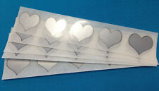 "1"" inch SILVER HEART SCRATCH OFF STICKERS LABELS TICKETS PROMOTIONAL GAMES FAVOR"