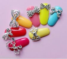 BLING BLING 3D Nail Art Metal Bows with Rhinestone 3D Nail Art Decoration - NEW