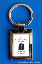 Personalised Wedding Best Man Usher Father Groom Bride Witness Suit Keyring Gift