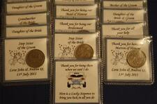 Personalised LUCKY SIXPENCE KEEPSAKE WEDDING Thank You Gift GUEST Female Favours