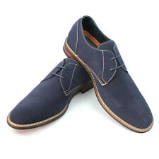 New Men's Blue Ferro Aldo Shoes Round Toe Suede Casual Lace Up Denim Friendly