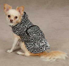 GREY LEOPARD  DOG RAIN COAT JACKET PET WATERPROOF RAINCOAT RAINY DAY GRAY