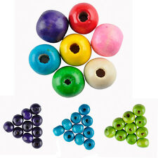 280X New Round Wood Spacer Loose Beads Charms Findings Jewelry Accessories 7 mm