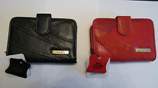 LORENZ LADIES LEATHER PURSE MADE FROM SOFT LEATHER IN BLACK OR RED - NEW 4668