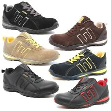 NEW MENS/LADIES WORK SAFETY STEEL TOE CAP BOOTS LIGHTWIEGHT TRAINER SHOES 3-13