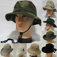 Summer 100%Cotton Fishing safari bucket  snap hat Unisex with adjustable strap