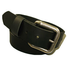 Handmade Mens Genuine Leather Belt with Roller Buckle