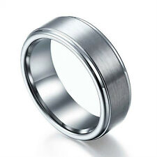 Men Women Tungsten Carbide Ring Rare Matte Polished Finish 6mm 8mm All Size