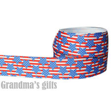 "1""25mm Pentangle Printed Grosgrain Ribbon 10/50/100 Yards Hairbow Wholesale"