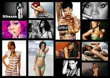 RIHANNA Collage Montage Poster Picture Photo Print Art A2 A3 A4