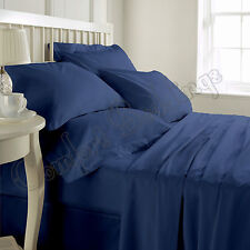 1000TC Luxurious Hotel Brand Nevy Blue Bedding Set 100%Egyptian Cotton In ALL si