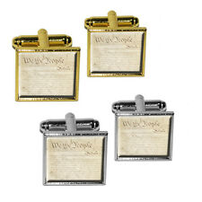 Constitution of the United States Square Cufflink Set
