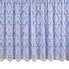 WHITE NET CURTAIN HEAVY THICK TRADITIONAL LACE DAMASK DESIGN FLORAL 3000