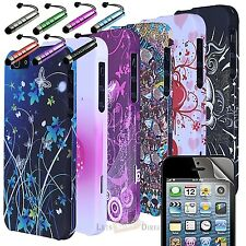 2 PC COLOR DESIGN RUBBERIZED HARD CASE COVER ACCESSORY FOR APPLE IPHONE 5 5G 6TH