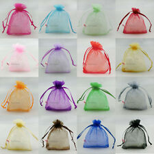 Mixed Organza Wedding Favour Gift Bags Jewellery Pouches 5x7.7x9,9x12,13x17cm