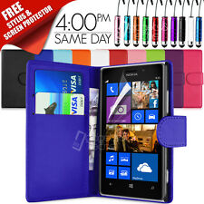 FLIP WALLET LEATHER CASE COVER FITS NOKIA LUMIA 925