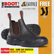 Mongrel Work Boots 545030. Steel Safety Toe Cap. Oil Kip, Elastic Sided Boot