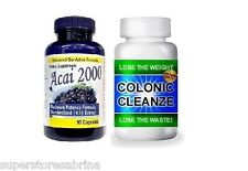 2000mg ACAI Berry + Detox COLON CLEANSE Weight Loss Slimming Dieting Pills Pill