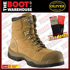 """Oliver Work Boots 55232, 150mm (6""""), Lace-Up 'Wheat', Steel Toe Cap Safety. New!"""