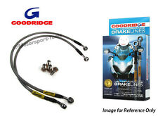 Goodridge Suzuki GSXR750K 89 Front Braided Brake Lines Hoses Stainless Steel
