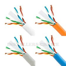 1000FT CAT6 UTP SOLID NETWORK ETHERNET CABLE BULK WIRE 23 AWG 550MHz RJ45 LAN