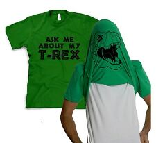 Youth Ask Me About My T-Rex T Shirt Funny Flip Up Trex Shirts For Kids